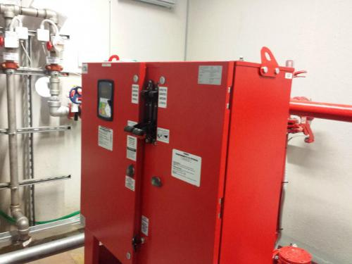 Water mist fire suppression system 06