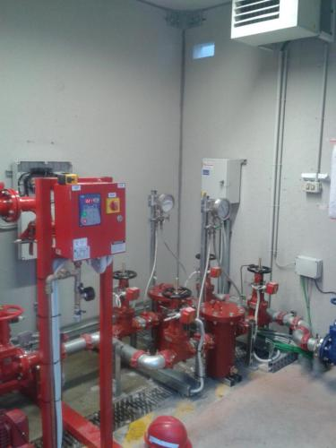 Water mist fire suppression system 07