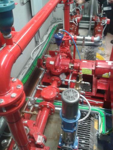 Water mist fire suppression system 08